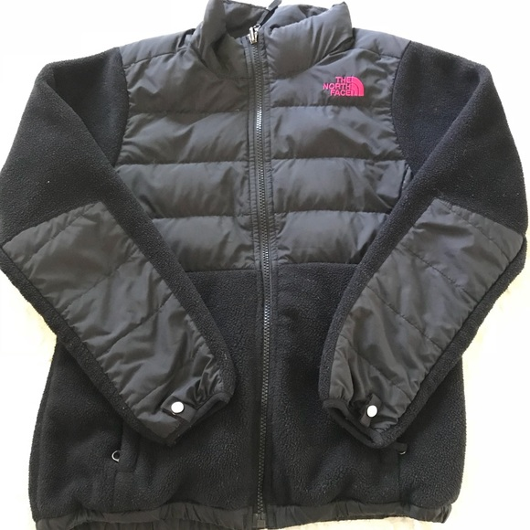 2927a1ff4a Girl s North Face fleece and down jacket. M 5b9ab87f12cd4a1cfbef08cc